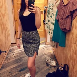 Silence and Noise speckled mini skirt